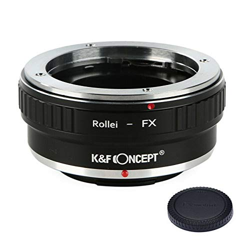 K&F Concept Lens Adapter Ring for Rollei QBM to Fuji X Fujifilm X FX Mount X-A1 X-A10 X-A20 X-A2 X-A3 X-A5 X-M1 X-E1 X-E2 X-E2S X-E3 X-T1 X-T2 X-T3 X-T10 X-T20 X-T30 X-T100 X-Pro1 X-Pro2 X-H1