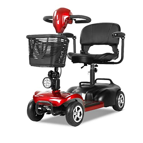 Find Discount JCOCO JD00D 4-Wheel Mobility Scooter - Electric Powered Mobile Wheelchair Device for A...
