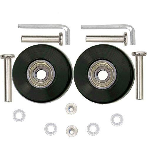 ORO Juego de 2 Ruedas Repuestos para Maletas de Equipaje 40mm con 35/40mm Ejes, 8mm Rodamientos de Reparación