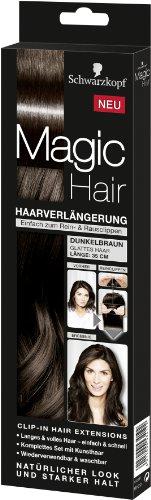 Schwarzkopf Magic Haarverlängerung Länge 35 cm, Dunkelbraun
