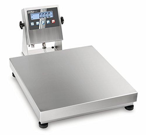 Robusta balanza de plataforma de acero inoxidable con autorización ATEX (ATEX) [Kern OEX 100K-1MEU] para utilizar en zonas con riesgo de explosión, Campo de pesaje [Max]: 150 kg, Lectura [d]: 50 g