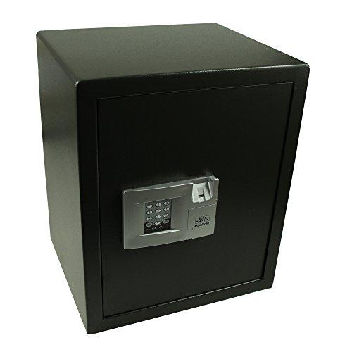 BURG-WÄCHTER Möbeltresor mit elektronischem Zahlenschloss und Fingerscan, Point-Safe, 72,8 l, 25,5 kg, P 4 E FS, Schwarz
