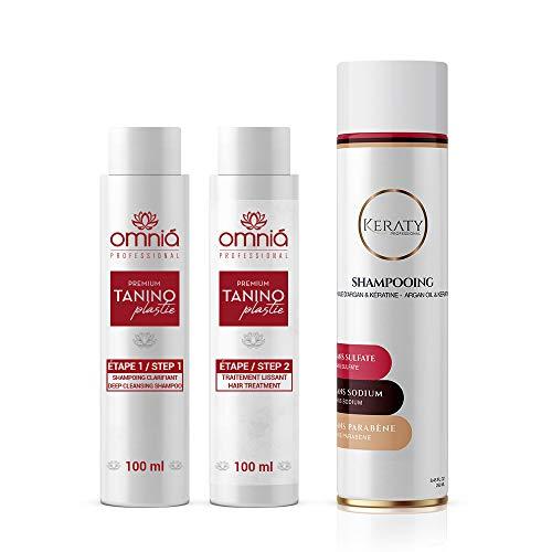 OMNIA PROFESSIONAL - TANINOPLASTIE - Lissage au Tanin (2 x 100 ml + 1 Shampoing Sans Sulfate)