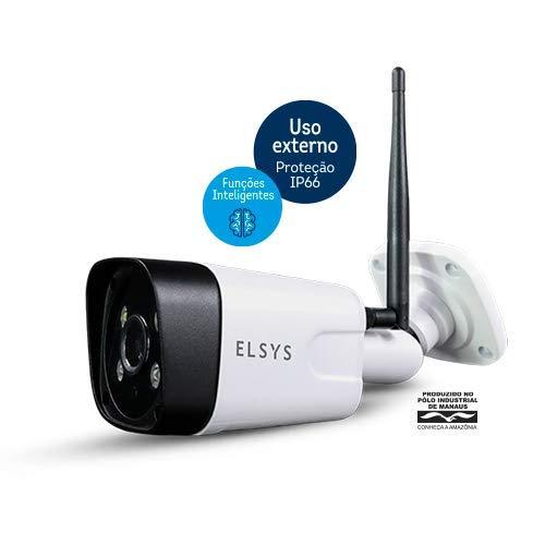 Câmera de Segurança Wi-Fi Externa Full HD ESC-WB3F, Elsys, Branca
