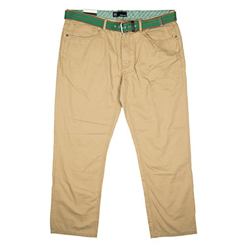 Weatherproof Mens Straight Leg Pant With Belt 38x32 Khaki