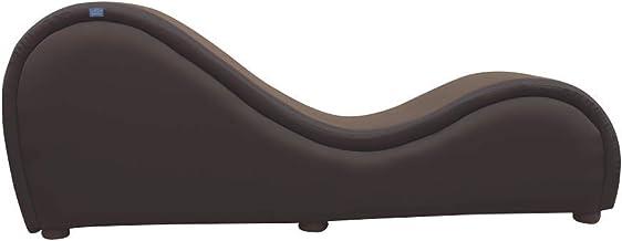 اريكة زينة من هورس - اريكة مريحة للغاية مع جلد اسود مبطن، كرسي مريح بتصميم عصري، لغرفة المعيشة