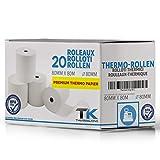 Rotoli di carta termica, 80 mm x 80 mm x 12 mm, 48g, certificato per stampanti di scontrini come Epson, IBM, Metapace e molto altro ancora, alta qualità, privi di BPA