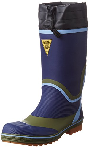 [富士手袋工業] 安全長靴 踏抜き防止 鋼板入 カバー付 920 メンズ NAVY 26.0cm