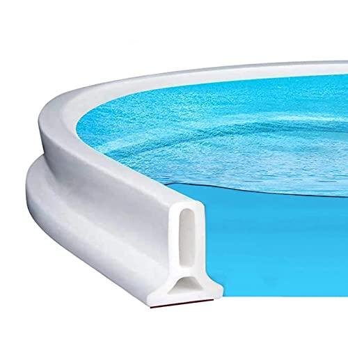 Mampara de agua de ducha, plegable, autoadhesiva, para el baño, tope de agua, impermeable (200 cm)