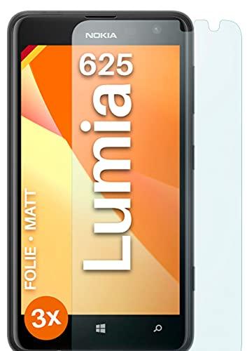 moex Schutzfolie matt kompatibel mit Nokia Lumia 625 - Folie gegen Reflexionen, Anti Reflex Bildschirmschutz, Matte Bildschirmfolie - 3X Stück