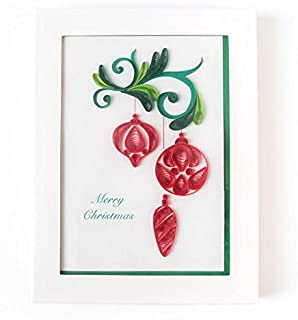 PAPYRUS BY NIQUEA.D Quilled Ornaments Boxed Christmas Cards (Set of 6)