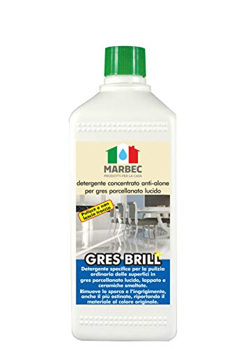 Marbec - GRES Brill 1LT | Detergente concentrato Anti-Alone per gres porcellanato Lucido