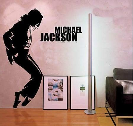 Rock Pop Music Super Star Michael Jackson Classic Dance Pose Wall Sticker Vinyl Car Decal Boy Fans Bedroom Living Room Club Studio Home Decor Mural
