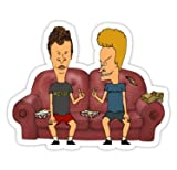 Beavis and Butthead (Size W9.7 x H7.6 Centimeter) Sticker for Your Laptop Skateboard Luggage Car Travel case Snowboard Motorcycle Bicycle