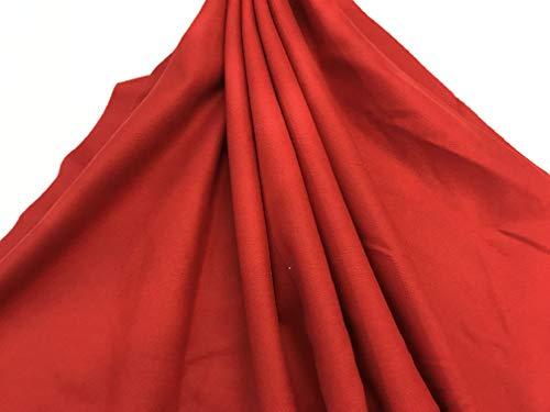 telas por metros PAÑO REGIONAL LANA rojo