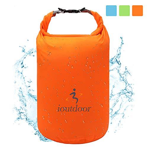ioutdoor Ultra-Light Dry Bag, wasserdichte Tasche Trockensack Kompressionssack 2L / 5L / 10L / 20L / 40L / 70L, Wasserdicht, Abriebfest, Reißfest, für Wassersport, Camping, Reisen (Orange, 5L)