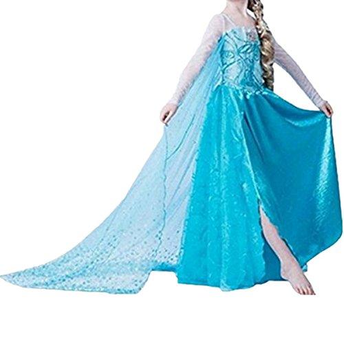 LOBTY ELSA Kostüm Prinzessin Mädchen Kleid Eiskönigin Prinzessin Kostüm Kinder Erwachsene Kleid Mädchen Weihnachten Verkleidung Karneval Party Halloween Fest