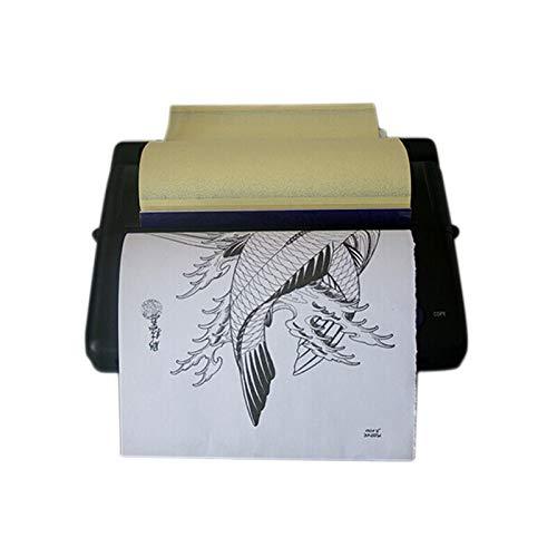 Tätowierung Transfer Printer,Tattoo Thermotransfer Maschine, A4 Thermischen Kopierer,Drucker,Thermokopierer Profi,5W 5-35 ℃, Tattoo Transfer Kopierer, Copier Schwarz