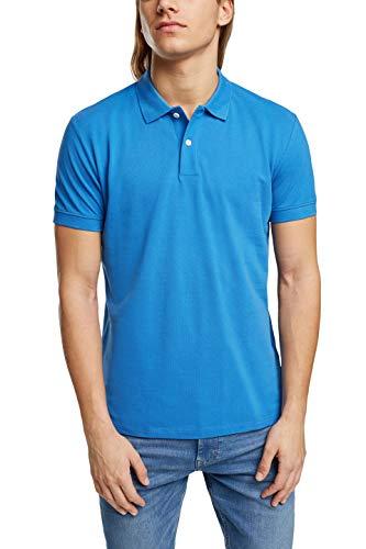 edc by Esprit 021CC2K303 Camisa de Polo, 410/azul Brillante, L para Hombre