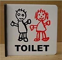 トイレマーク トイレプレート 遠くから見える突き出し式250角 男女変更可 看板 標識 サイン 大きいサイズ ビッグサイズ bigサイズ 便所マーク 便所プレート ラージサイズ
