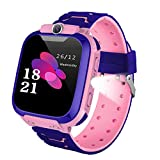 Kids Smart Watches, LBS/GPS Tracker SOS Camera Voice Chat Touch Screen Games Alarm Clock Flashlight Phone Watch for Girls Great Birthday Gift