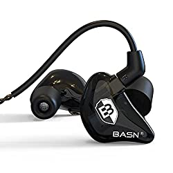 small BASN Noise Separation Musician Earphones with Dual Ear Drivers Headphones, …