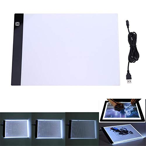 GRASSAIR A3 LED Tableros de Dibujo Digital Graphics Pad con Cable USB 3 tabletas gráficas de Brillo Ajustable Light Pad Copy Board para el rastreo de Arte