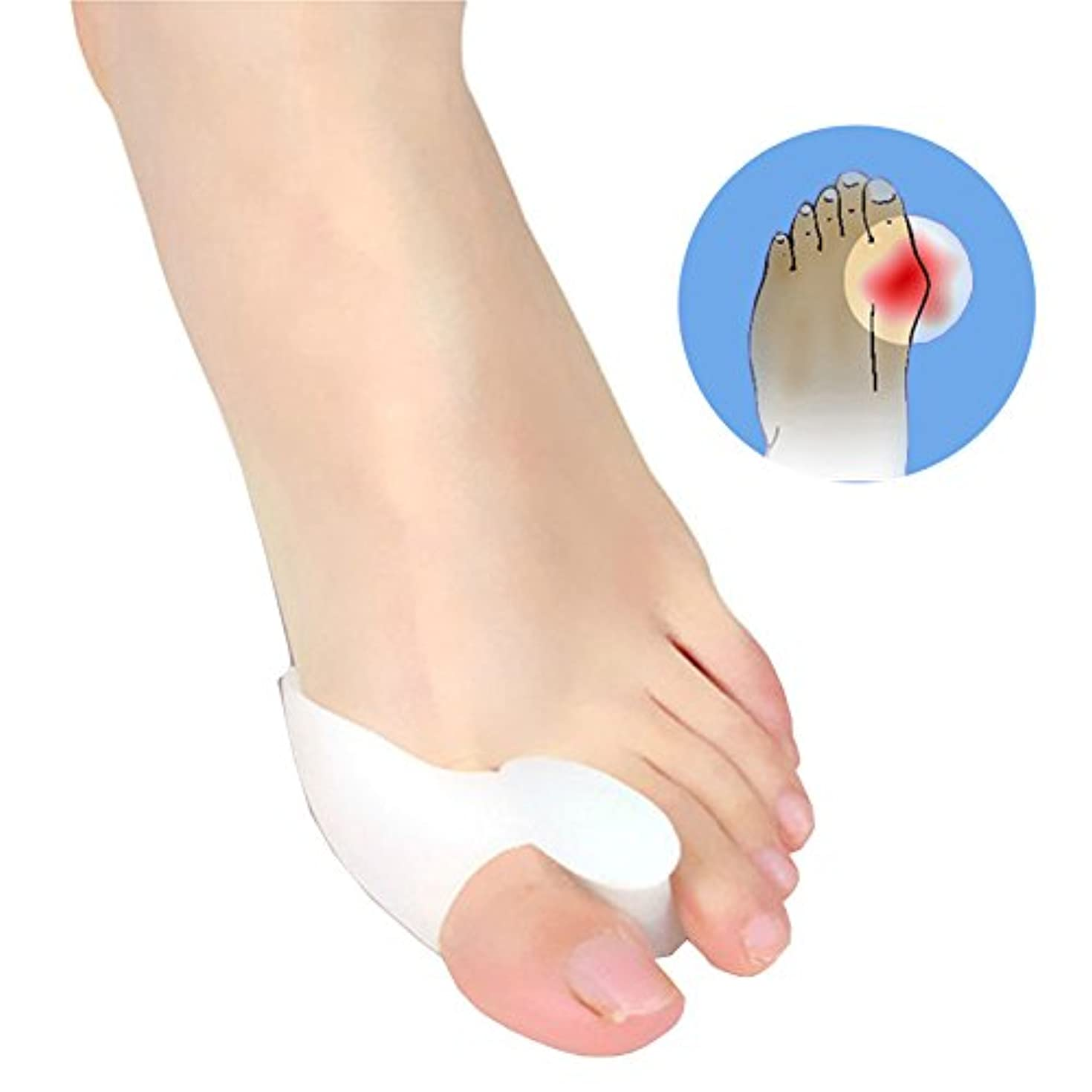 競合他社選手従う衣装Jicorzo - 1ペアジェル外反母趾の足セパレータ容易に足の痛み足外反母趾ガードクッション足スプレッダーフットケアツール滑らかなシリコーン