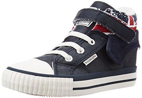 British Knights Roco, Baskets Marche Mixte bébé, Bleu (Navy/Union Jack), 20