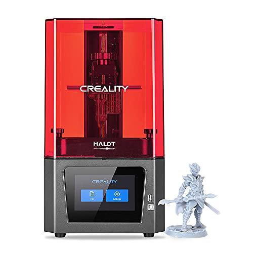 Creality Impresora 3D Resin HALOT-ONE (CL-60), impresora 3D de resina de alta precisión con fuente de luz integrada con WiFi integrado, núcleo fuerte y corte eficiente.