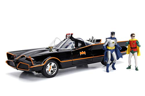 JADA TOYS 1/18スケール バットマン BATMAN バットモービル クラシックTVシリーズ バットマン&ロビンフィギュア付き 完成品ダイキャストミニカー JADA98625