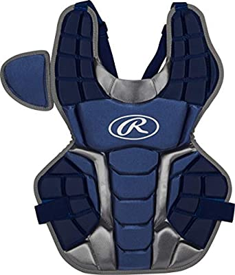 Rawlings Renegade 2.0 Intermediate NOCSAE Baseball Protective Catcher's Gear Set, Navy and Silver