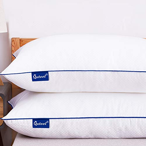 Bed Pillows for Sleeping Set of 2 Hypoallergenic Plush Pillows for Side Back and Stomach Sleepers Hotel Collection Gel Pillow Down Alternative with Breathable Cotton Cover Standard Size