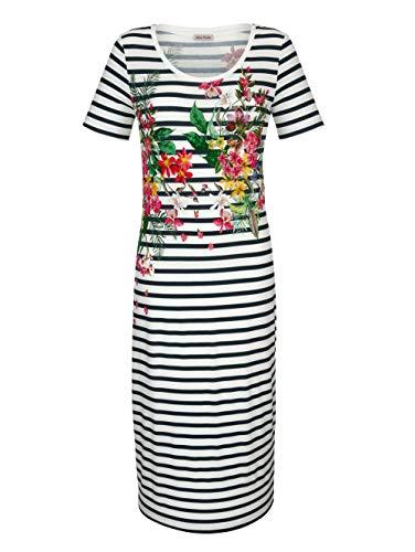 Alba Moda Strandkleid mit Streifen Weiss-Schwarz