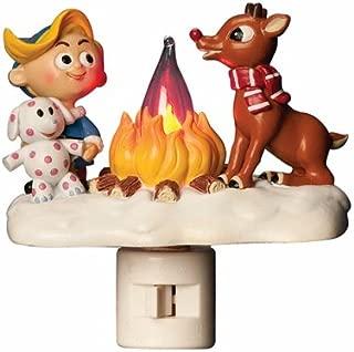 Roman Rudolph and Elf Friend 4.5 Inch Polyresin Swivel Plug Flickering Night Light