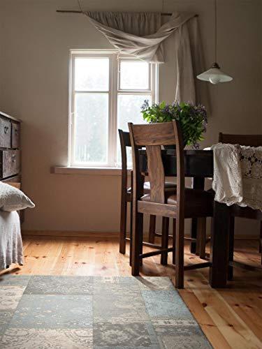 Benuta Flachgewebe Teppich Frencie Patchwork Braun 120x180 cm/Pflegeleichter Teppich für Flur und Andere Wohnräume