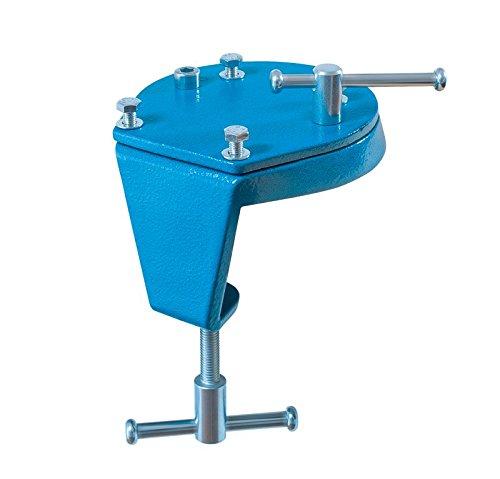 Heuer 119103 Drehteller + Tischklammer (Drehklammer 2 in 1 Flexible Befestigung Gewicht 1 kg Tischsstärke Schraubstock), 10-60 mm/100 mm
