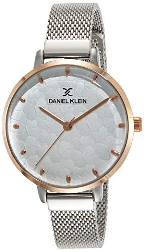 Daniel Klein Analog White Dial Women's Watch-DK11637-3