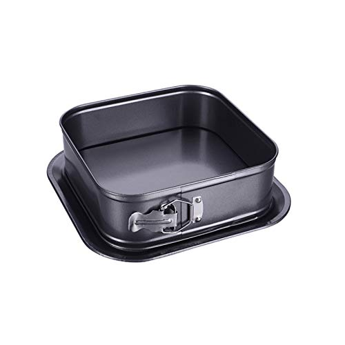 LIQUID Springform Quadrat Backform Non-Stick Kuchenform, 28 * 28 cm lebende backformen, Schwarze Antihaft-Beschichtung, Einfach zu bedienen und leicht zu reinigen, geeignet zum Backen zu Hause