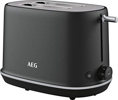 AEG T7-1-6BP Toaster (7 Bräunungsstufen, Auftauen, Aufwärmen, inkl. Brötchenaufsatz + Staubschutzdeckel, Lift-System, tiefe, breite Schlitze, alle Brotsorten, auto. Zentrierung, Krümelschublade, grau)