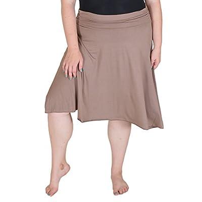 Stretch is Comfort Women's Plus Size Knee Length Flowy Skirt
