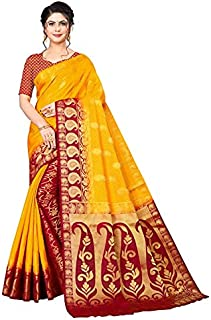 Neerav Exports Banarasi Traditional Jacquard Saree (Orange)