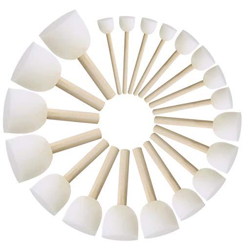 ULTNICE Set di spazzole rotonde per spazzole Set di spazzole per bambini Spazzole per pittura fai da te di 20