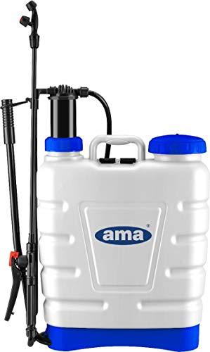 Pompa A Spalla Manuale 16 Lt Irrorazione di AMA, bianco