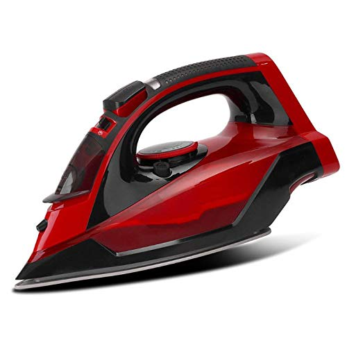 Liuying 2600w Cordless Electric Steam Iron, Steam Iron Crease Cage Home Travel EU Plug, Portable Dry Steam Iron for Clothes, Non-Stick Chassis Home...