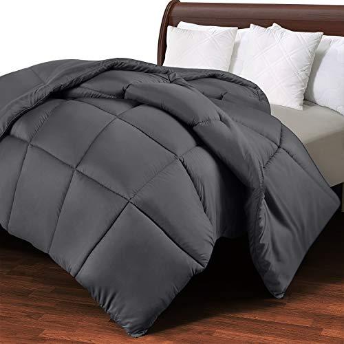 Utopia Bedding Edredón de Fibra 220x230 cm, Fibra Hueca siliconada, 1770 gramo - (Gris, Cama 135/150-230 x 220 cm)