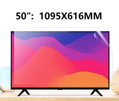 BYCDD 50 Pulgadas de Pantalla de TV Protector no deslumbrador Resistente a los arañazos Ultra-Clear Anti-Azul Claro para el LCD, LED, OLED y 4K QLED HDTV,1095X616MM