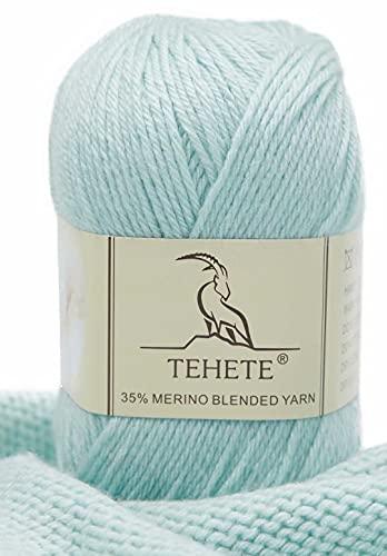 TEHETE 35% Filato di lana merino, peso della diteggiatura, filato per maglieria a mano e uncinetto, 016