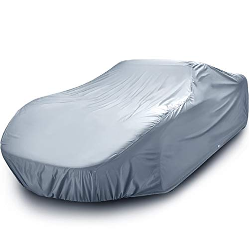 iCarCover {7-Year Full Warranty} All Weather Waterproof Snow Rain UV Sun Dust Protection Automobile Outdoor Coupe Sedan Hatchback Wagon Custom-Fit Full Body Auto Vehicle Car Cover - Cars Up to 195""