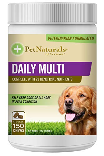 Pet Naturals - Daily Multi for Dogs  Daily Multivitamin Formula  150 Bite Sized Chews